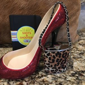 Other - Wine Shoe / Leopard Flask with Shooters Book
